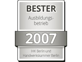 Bester Ausbildungsbetrieb 2007