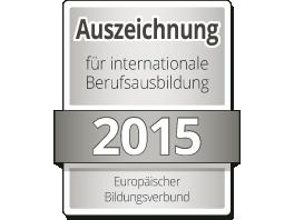 Auszeichnung für internationale Berufsausbildung 2015